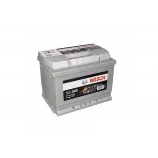 Akumuliatorius BOSCH 63Ah 610A S5005
