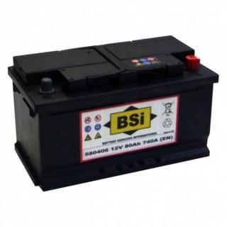 Akumuliatorius BSI 80Ah 740A