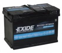 Akumuliatorius EXIDE 70Ah 760A AGM