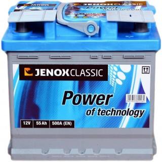 Akumuliatorius Jenox Classic 55Ah 470A
