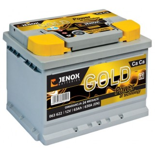Akumuliatorius Jenox Gold 63Ah 630A