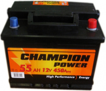 AKUMULIATORIUS CHAMPION POWER 12V/55AH/450A EN