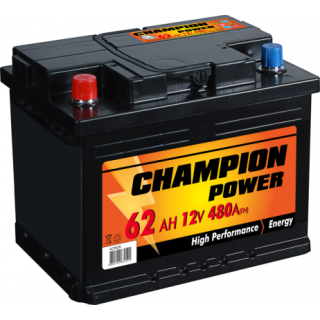 AKUMULIATORIUS CHAMPION POWER 12V/62AH/480A EN