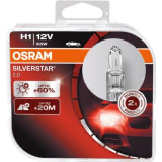 OSRAM SILVERSTAR 2.0 H1 55W 12V | 64150SV2-HCB
