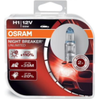 OSRAM NIGHT BREAKER UNLIMITED H1 HCB 55W 12V | 64150NBU-HCB