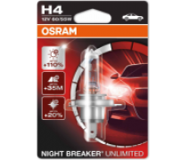 OSRAM NIGHT BREAKER UNLIMITED H4 HCB 60/55W 12V | 64193NBU-01B