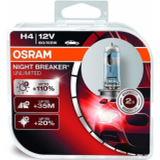 OSRAM NIGHT BREAKER UNLIMITED +110% H4 HCB 60/55W 12V | 64193NBU-HCB