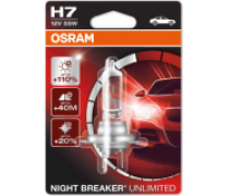 OSRAM NIGHT BREAKER UNLIMITED H7 55W 12V | 64210NBU-01B