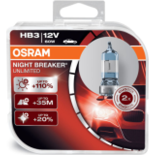 OSRAM NIGHT BREAKER UNLIMITED +110% HB3 60W 12V | 9005NBU-HCB
