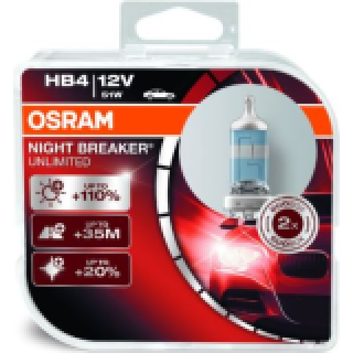 OSRAM NIGHT BREAKER UNLIMITED +110% HB4 51W 12V | 9006NBU-HCB
